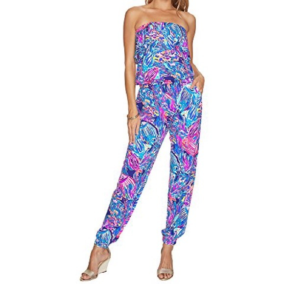 209e100aed7c89 Lilly Pulitzer Pants   Ailsie Jumpsuit Seas The Day   Poshmark